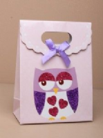 Owl gift box with velcro top - medium (Code 1705)